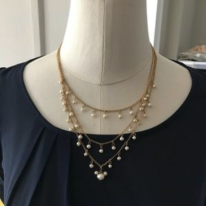 Anthropologie multi strand pearl necklace